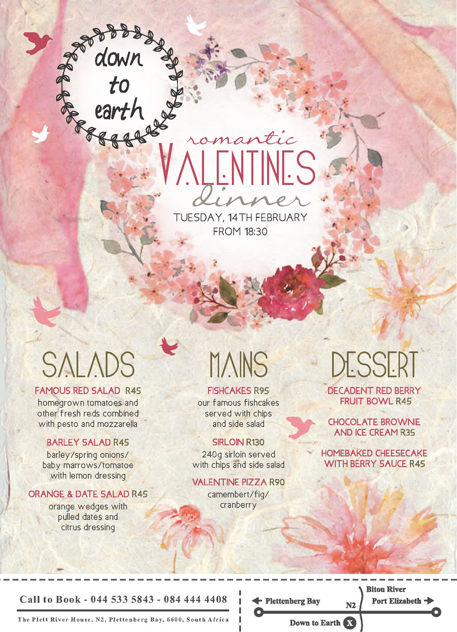 Valentine S Day Special 2017 Plett River Lodge
