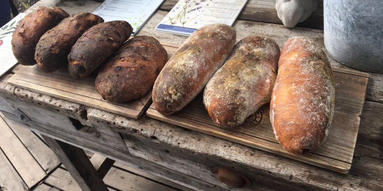 Freshly baked bread at Down to Earth restaurant