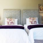 Twin beds in room at Plett River Lodge