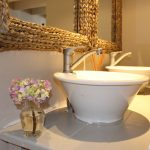 Freestanding basin in bathroom of room at Plett River Lodge