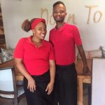 Waiters at Down to Earth wore red to celebrate Valentine's Day